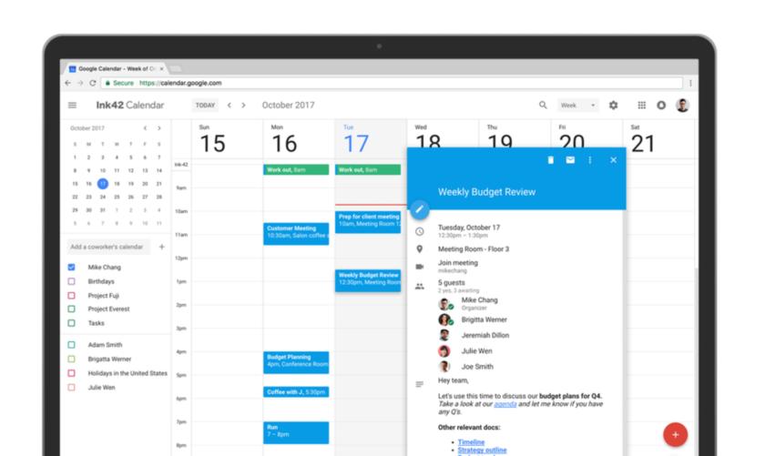 Google Calendar For Web Gets A Beautiful Design Overhaul Google Calendar Calendar App Apple Calendar