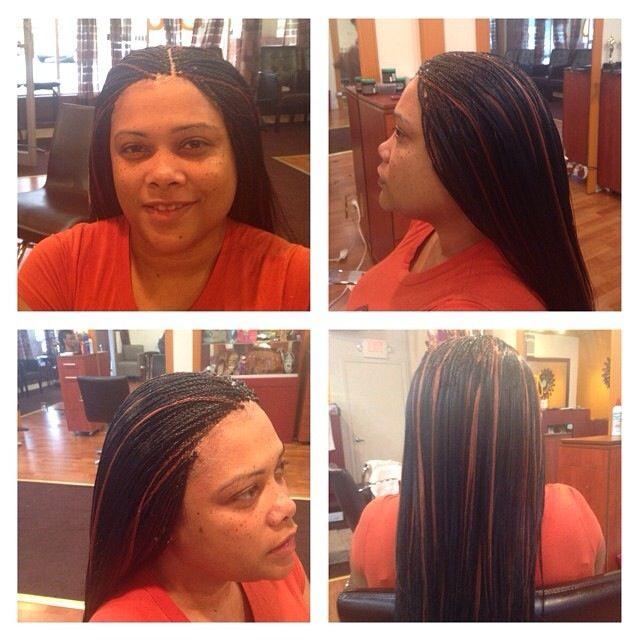 Straight Micro Braids W Human Hair Mannequin Hair Braiding