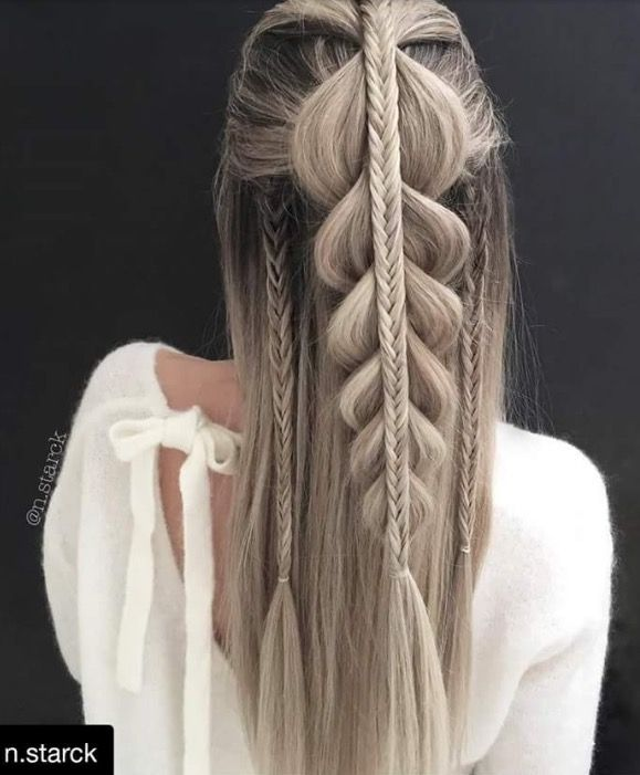18 Creative And Unique Wedding Hairstyles For Long Hair: Pin By Amber Rose Hair + Makeup On White Girl Braids In