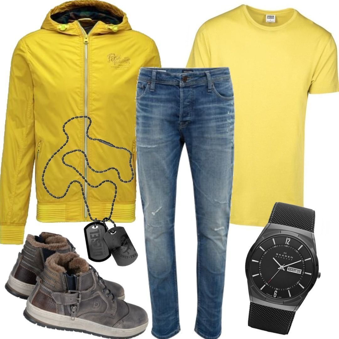 Petrol Classics Shirt Gelb Industries Shaped Jacke T Urban wiulPOZXkT