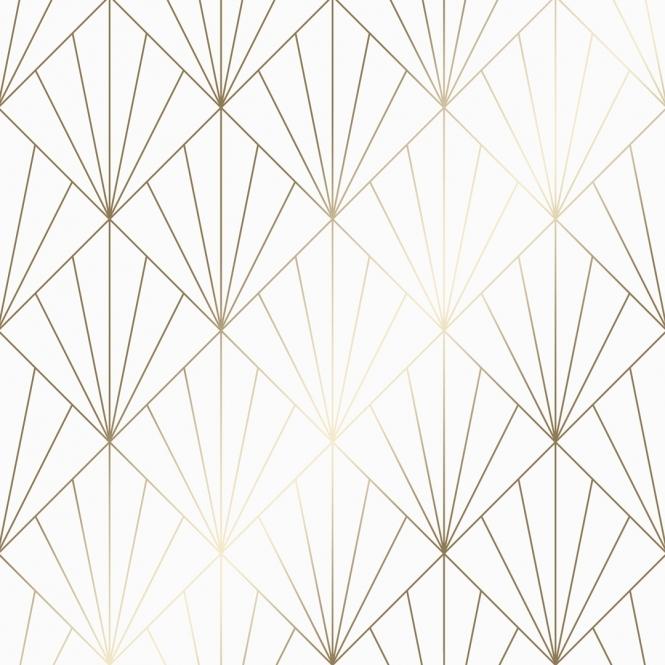 Betty Metallic Wallpaper White Gold White And Gold Wallpaper Gold Geometric Wallpaper Metallic Wallpaper