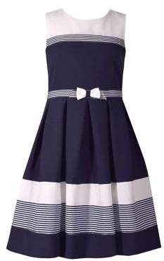 9dc374073b2c Iris   Ivy Little Girl s Nautical Colorblock Dress