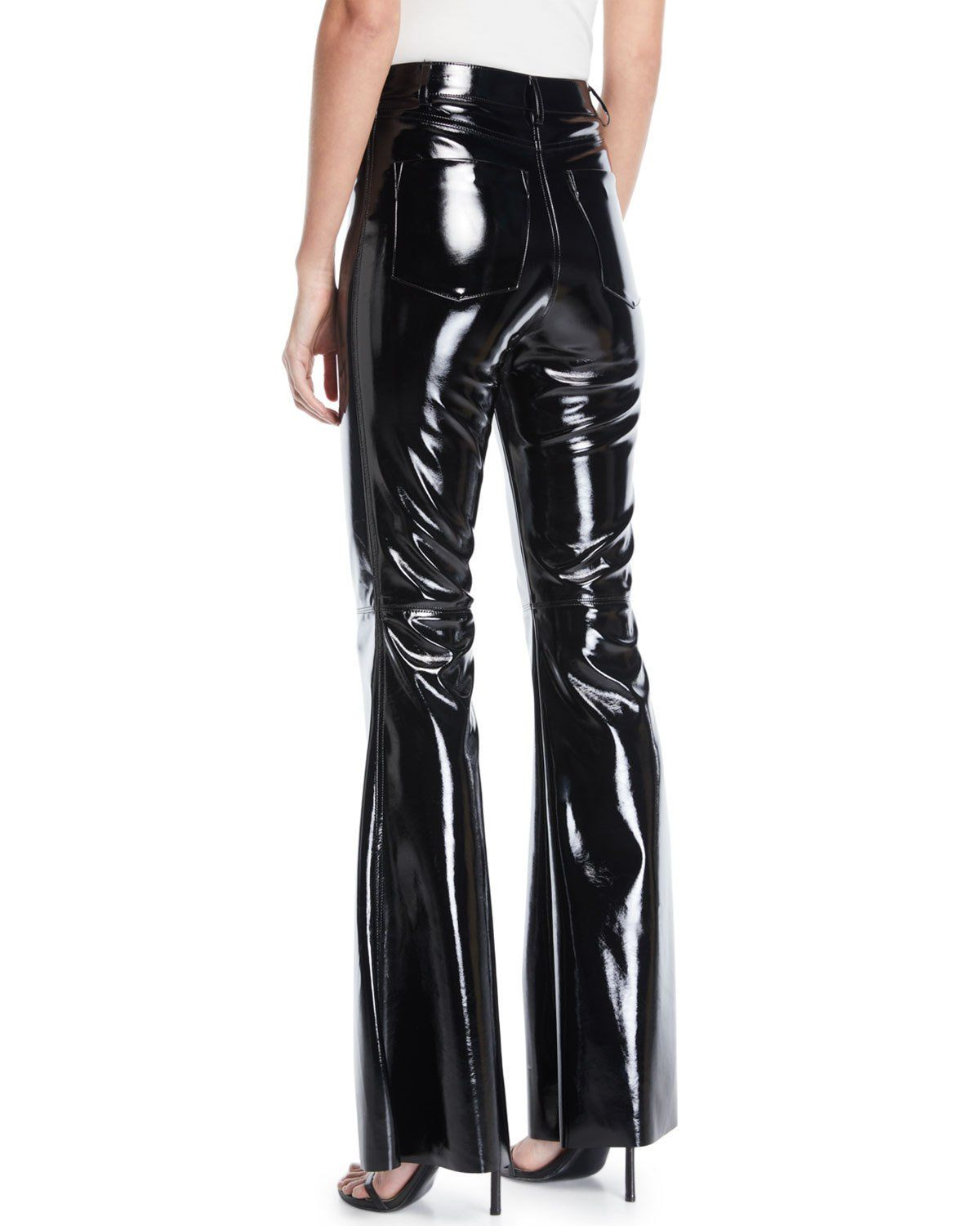 97546224afce8 Alice + Olivia Brent High-Waist Bell Pants | Products | Pants, Pvc ...