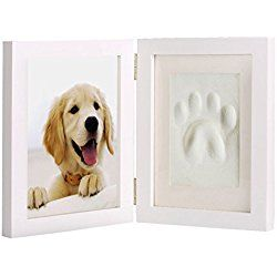 7f77abfcdb7d Dog or Cat Paw Print Pet Keepsake Picture/ Photo Frame With Clay Imprint  Kit, Perfect Keepsake Frame for Pet Lovers