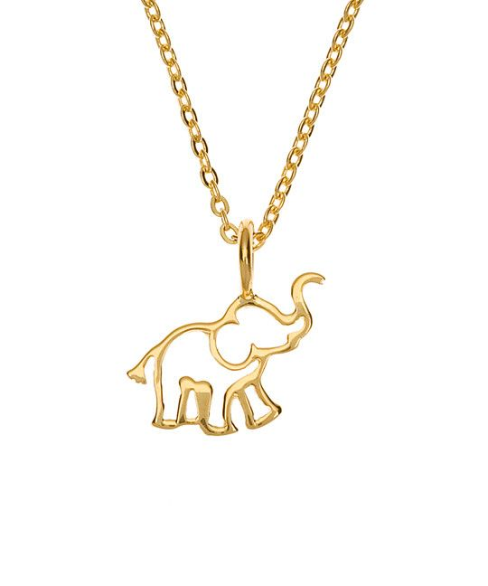 Rhodium-plated 925 Silver Elephant Pendant with 18 Necklace Jewels Obsession Silver Elephant Necklace