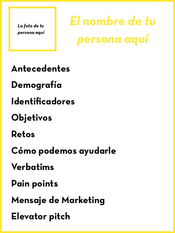 Ficha para tu cliente persona | Crear historias | Pinterest | Crear ...