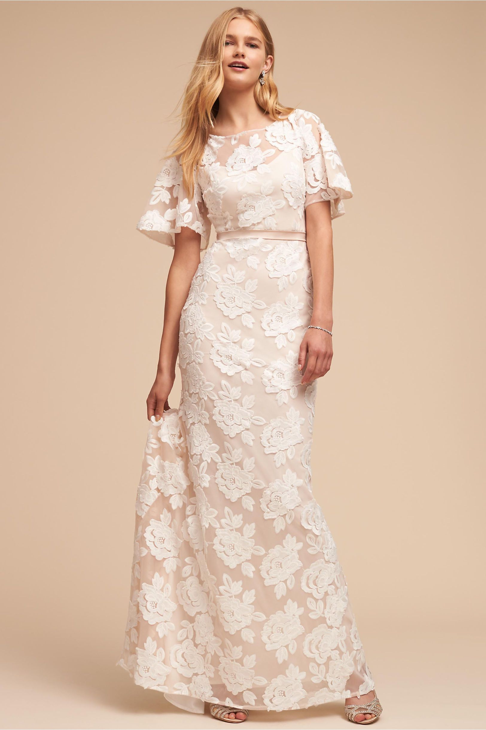 12e284758c5a BHLDN s Lotus Threads Fiona Gown in Cream