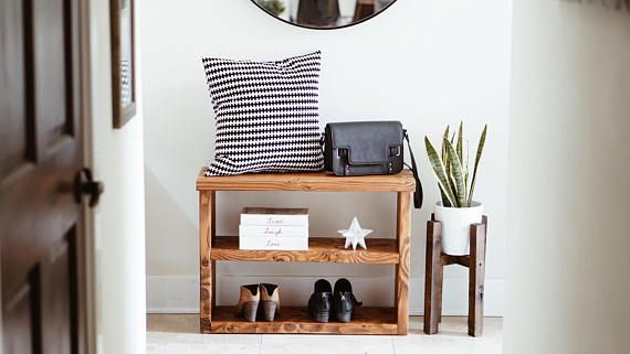 Shoe Rack Console Table Entryway Livingroom Interior