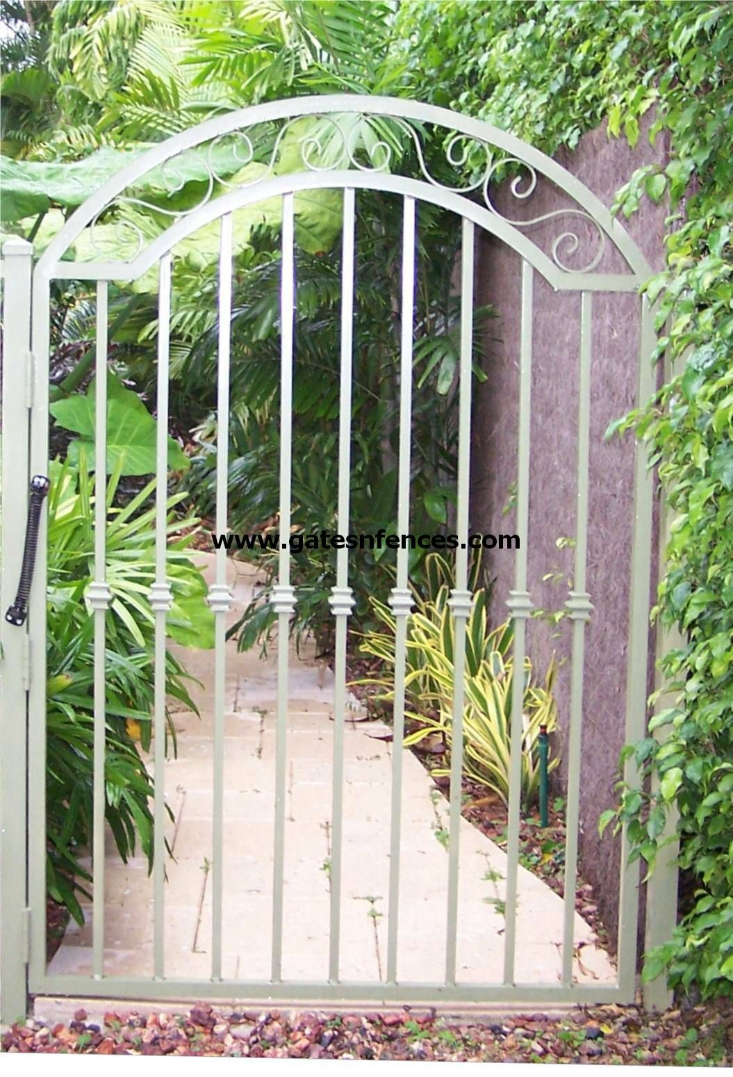 Iron garden gate - Garden Gates Decorative Gates Wrought Iron Aluminum Garden Custom Gate