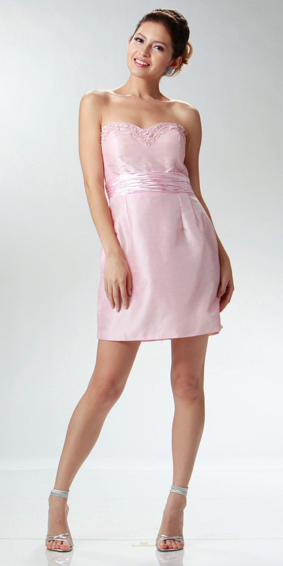 CLEARANCE LIMITED STOCK - Strapless Sweetheart Cream Cocktail Dress ...