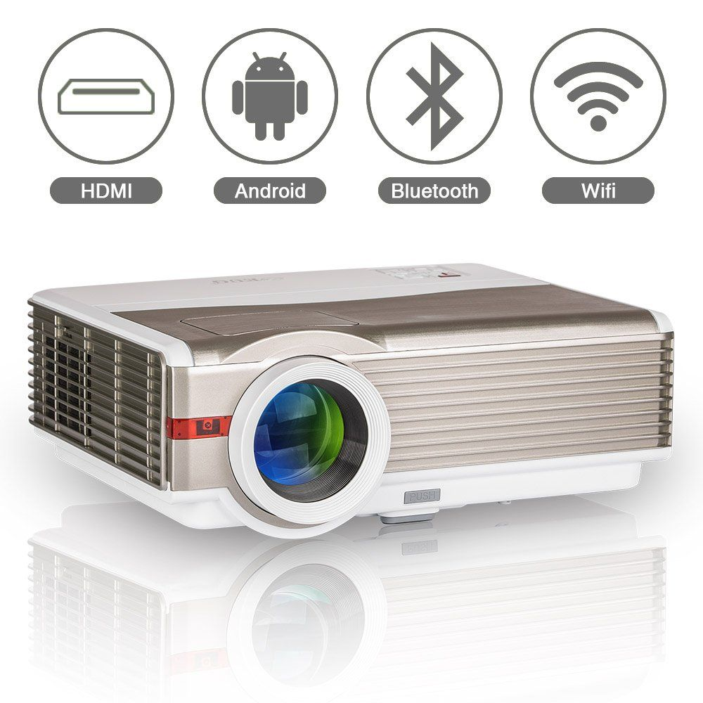 Video Projector Built-in Android Wifi Bluetooth Speakers for Home ...