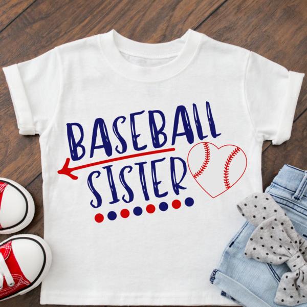 Photo of Baseball Sister SVG