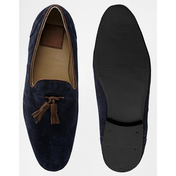 676f472141a ASOS Tassel Loafers in Suede ( 65) ❤ liked on Polyvore featuring men s  fashion