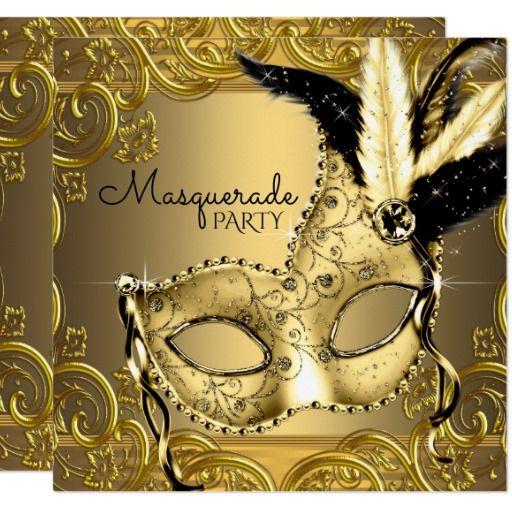 Create Your Own Invitation Zazzle Com Masquerade Party
