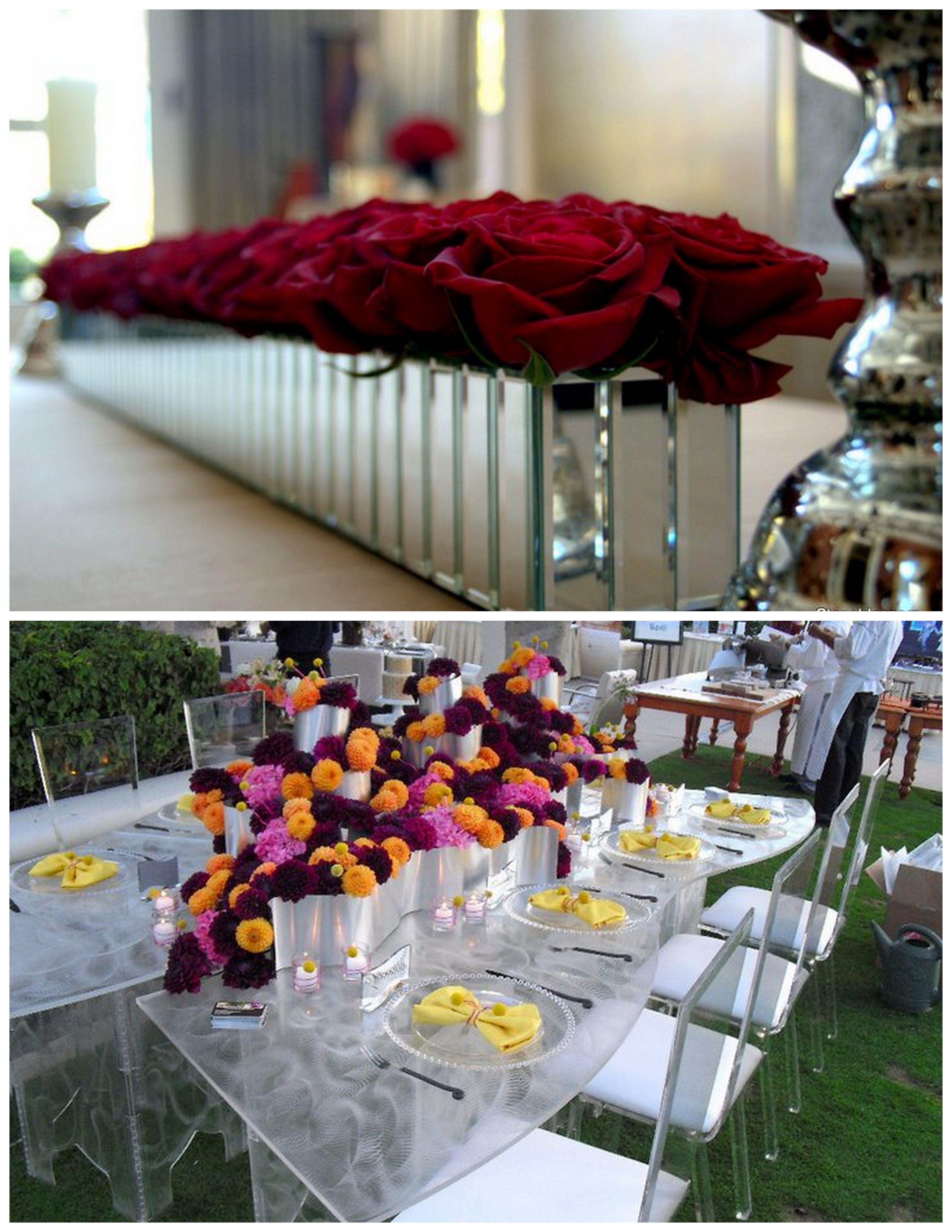 Panelled Mirror Vases Mirror Vase Flower Vases Metal Containers