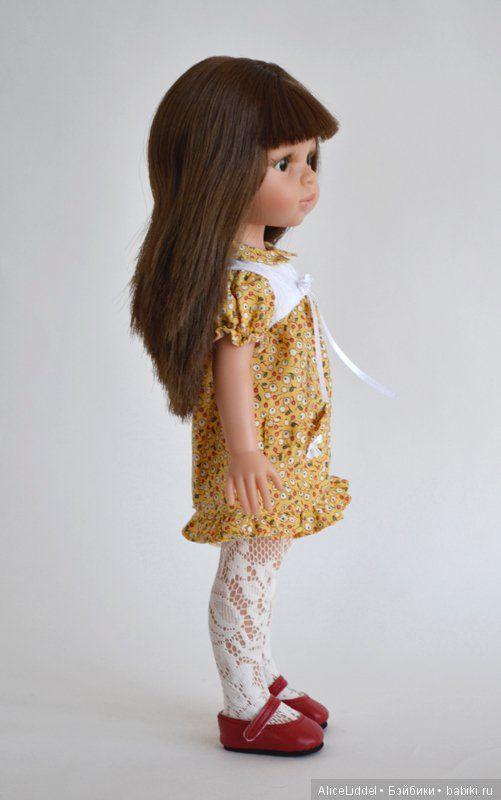 Платье с кармашком, для девочек от Паола Рейна / Одежда для кукол / Шопик. Продать купить куклу / Бэйбики. Куклы фото. Одежда для кукол