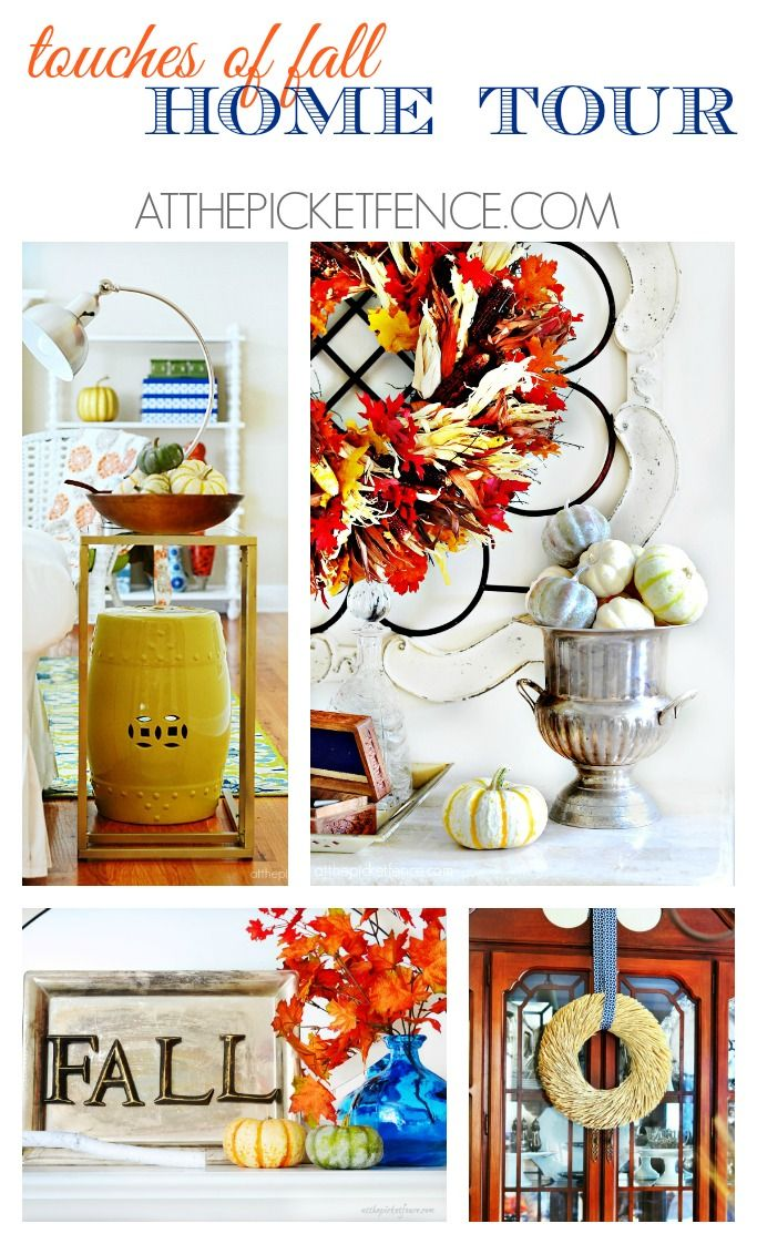 I've added simple touches of autumn throughout my home, for my fall home tour..