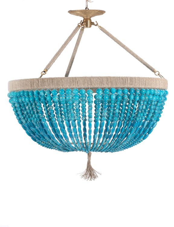 A Lovely Turquoise Chandelier By Roshambeaux Perfect For My Imaginary Powder Room