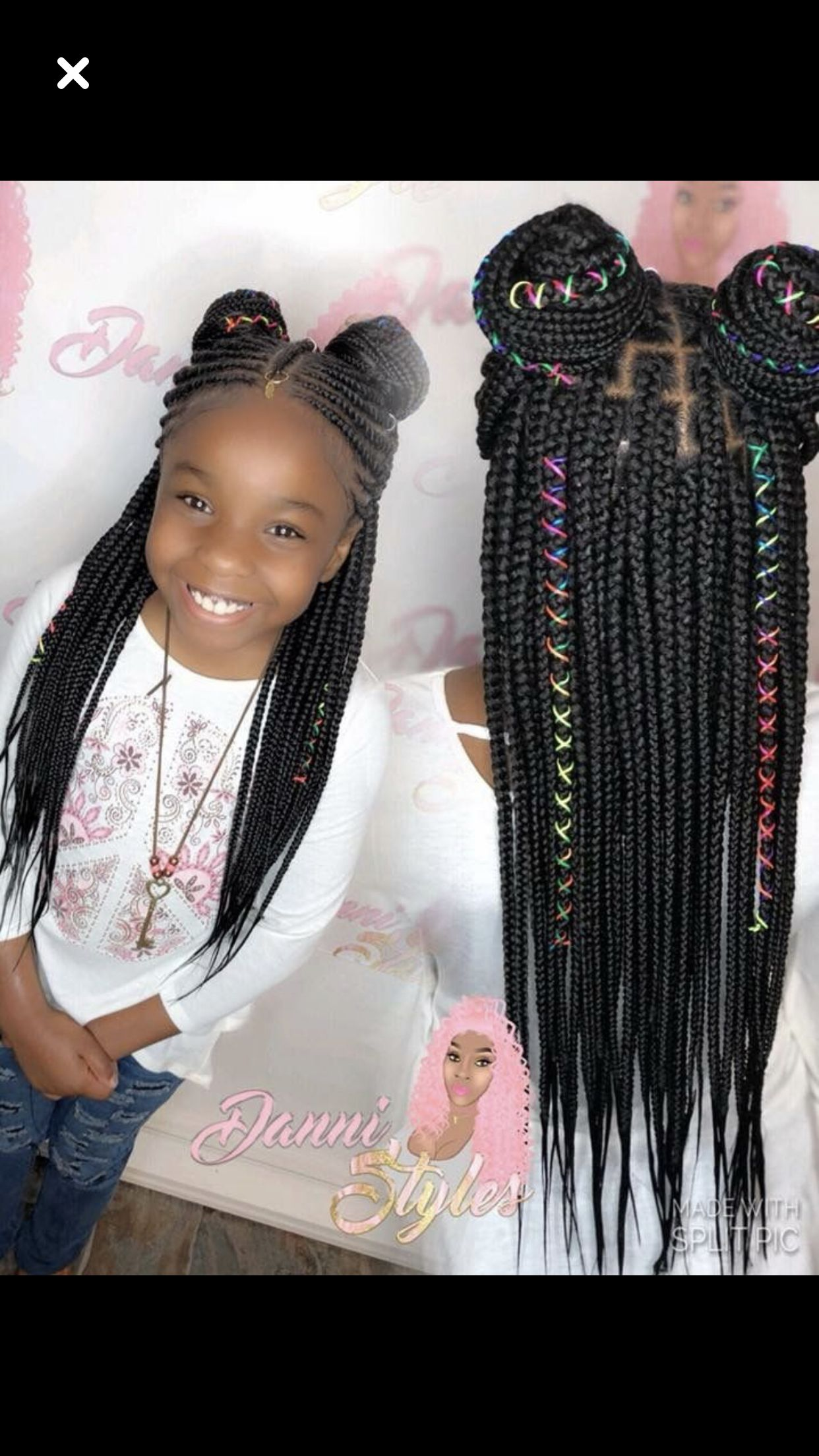 I Like This Hairstyle With Images Black Kids Hairstyles Hair