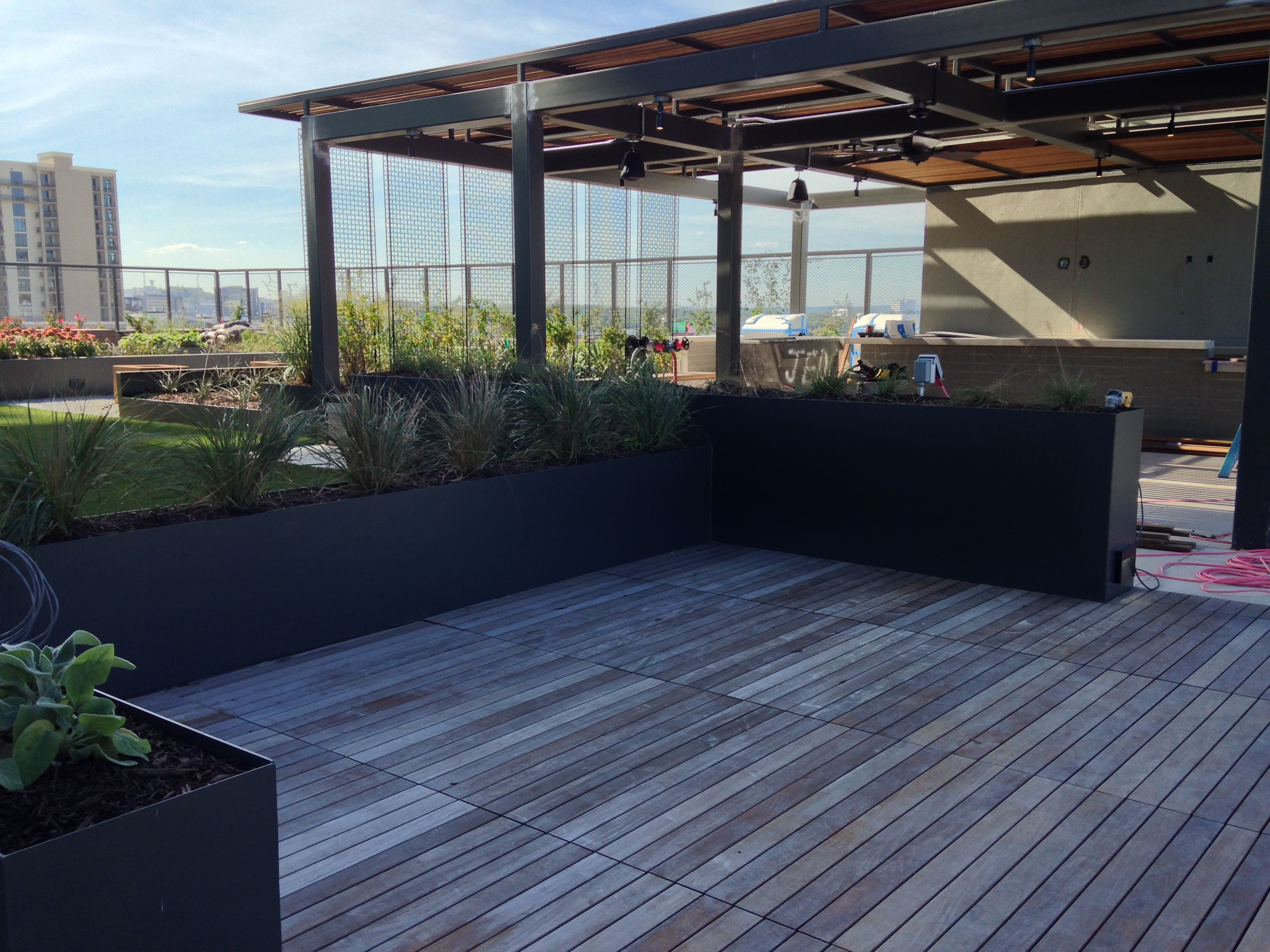 Nashville Apartment Rooftop Wows With Bison Deck Tiles