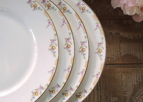 Wm. Guerin Limoges Dinner Plates Set of 4 GUE17 Vintage & Wm. Guerin Limoges Dinner Plates Set of 4 GUE17 Vintage | Pinterest ...