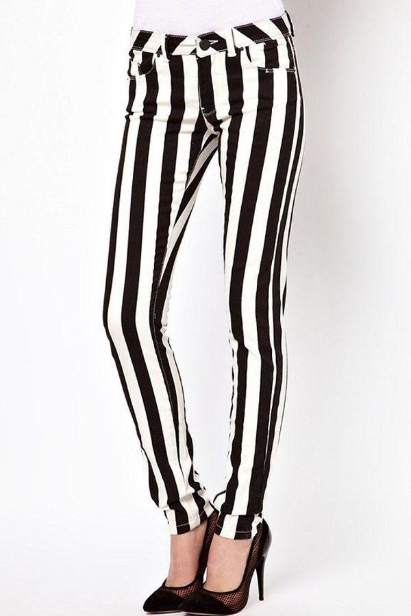 bc80838e1 Black+White+Vertical+Stripe+Jean+ Black+ Jean+ maykool