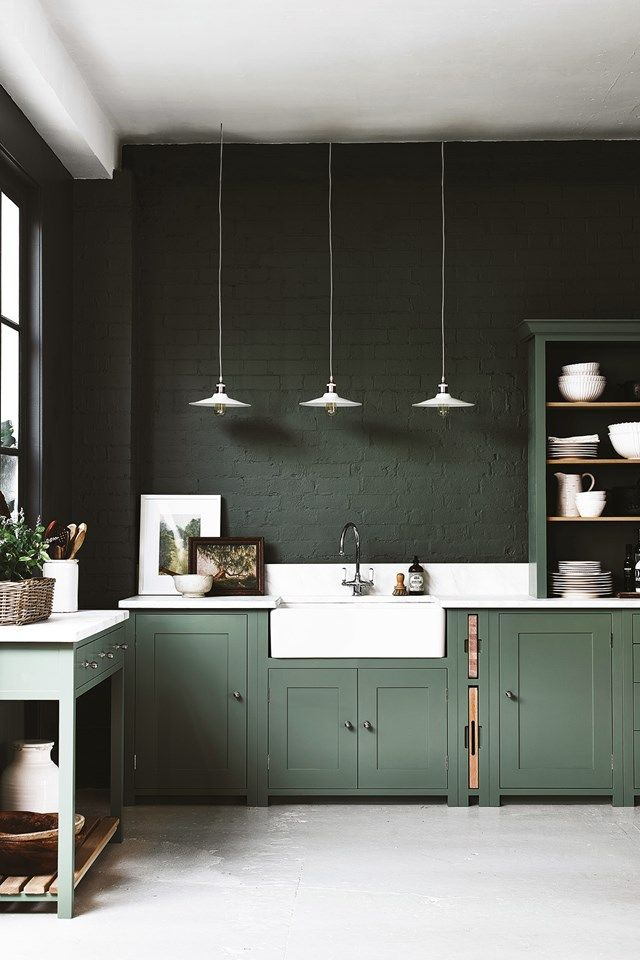 Reader Shopping Event With Neptune. Coloured Kitchen CabinetsGreen ...