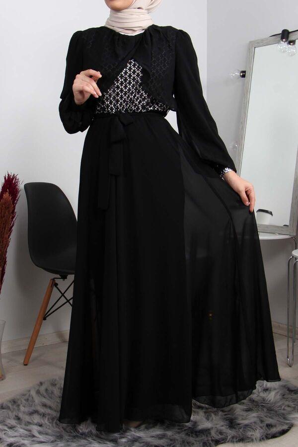 فستان أسود شيفون تسوق أون لاين حجاب مودانيسا أزياء محجبات ملابس محجبات فساتين جلباب عباية ملابس فستان ت In 2021 Dresses Formal Dresses Long Long Sleeve Dress