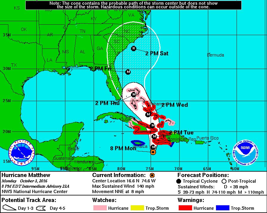 Matthew Threatens Florida As Hurricane S Track Shifts West Hurricane Matthew Hurricane Christian Journaling