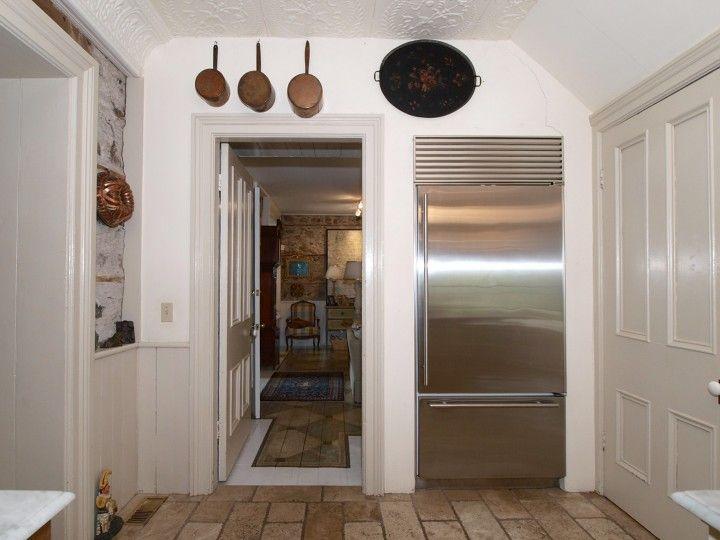 Refrigerator Recessed Into Kitchen Wall Maus Park Historic Home Near Toronto Photo Susan Arness