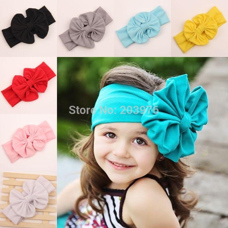 Kids Bebé Niño elástico hairband pequeñas Sequin Bow Vinchas Accesorio Para El Pelo
