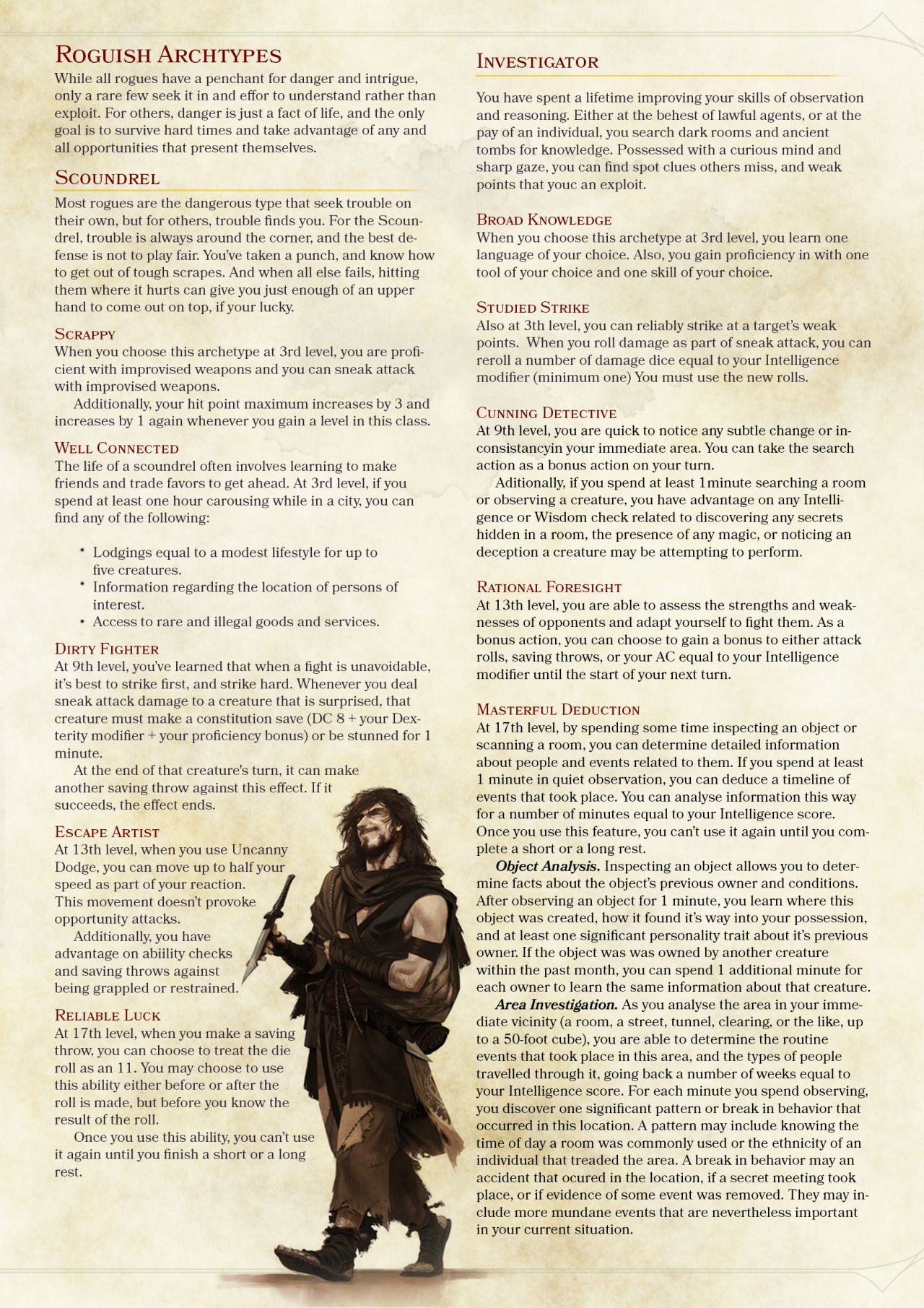 DnD 5e Homebrew — Barbarian, Fighter, Monk and Rogue