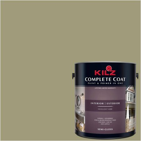 Kilz Complete Coat Interior/Exterior Paint & Primer in One #LF280-01 Expedition, 1 gal, Flat