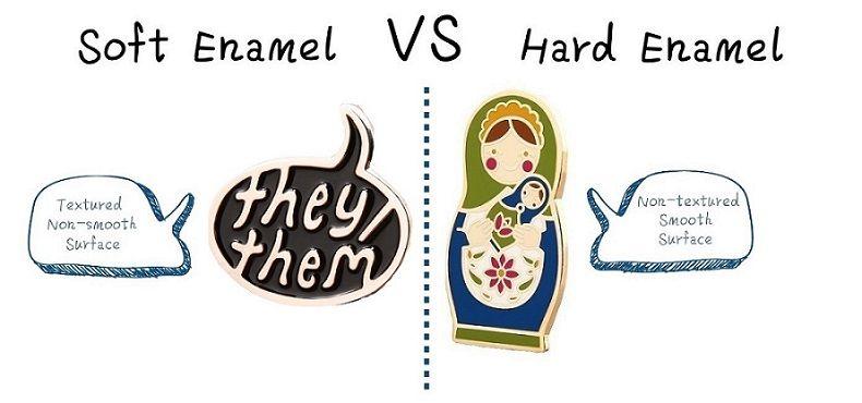 Soft Enamel VS Hard Enamel Pins | Funny Blog | Custom lapel