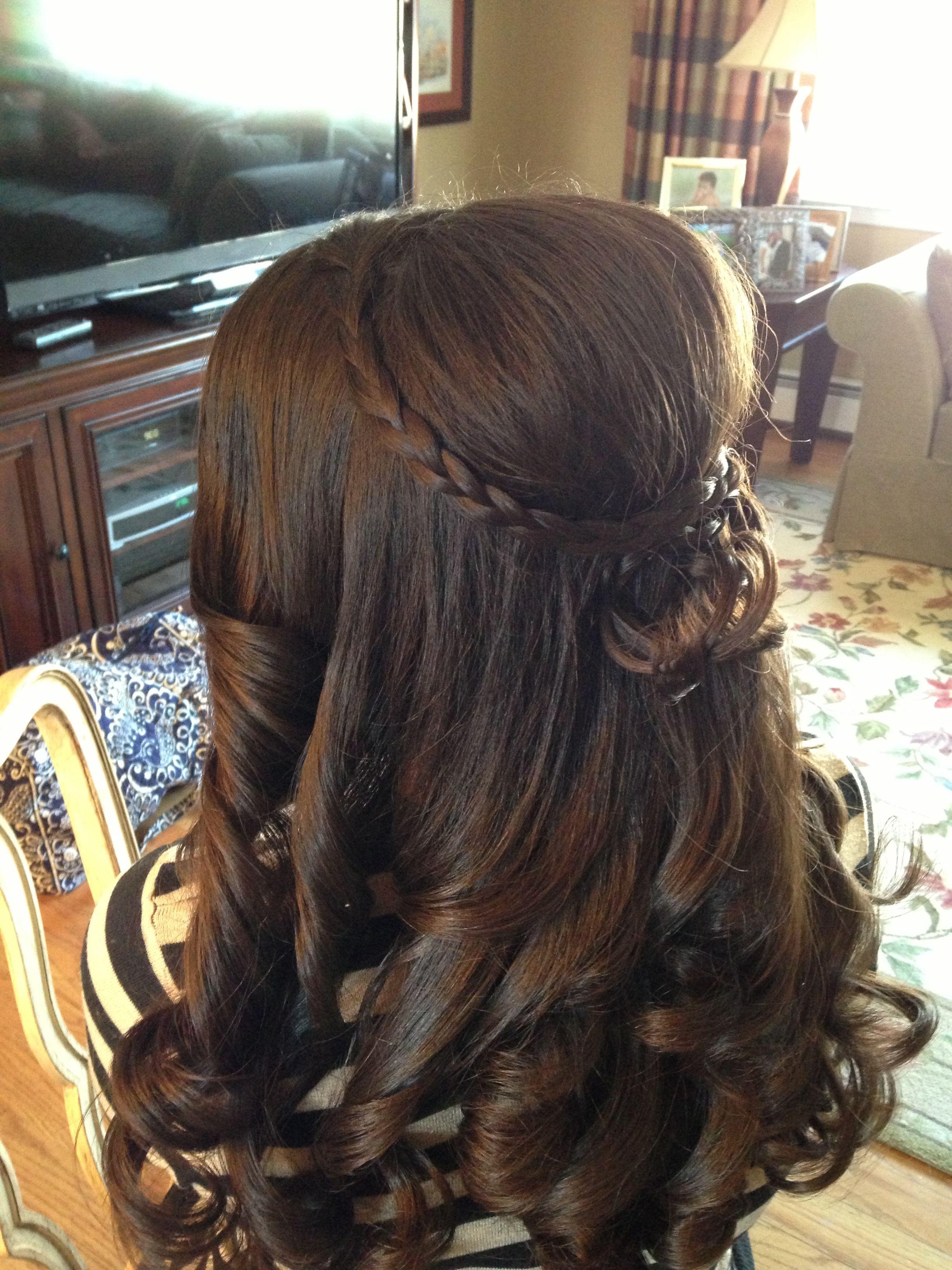 Updo 1 2 Up Hair Braid Braided Hair Prom Hair Wedding Hair Long