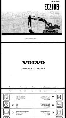 parts catalog volvo ec 210 b shop manual rh pinterest com