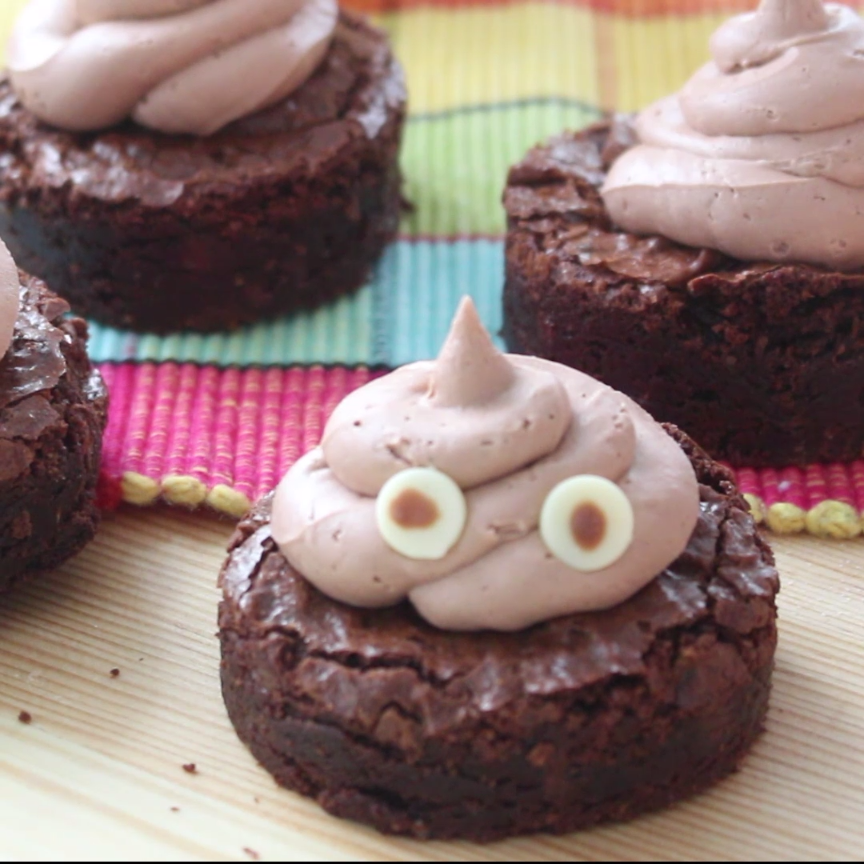 Poop Emoji Brownies