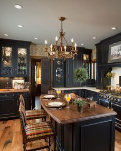 kitchens with black distressed cabinets. 54 Exceptional Kitchen Designs. Black Distressed CabinetsDistressed Kitchens With Cabinets E