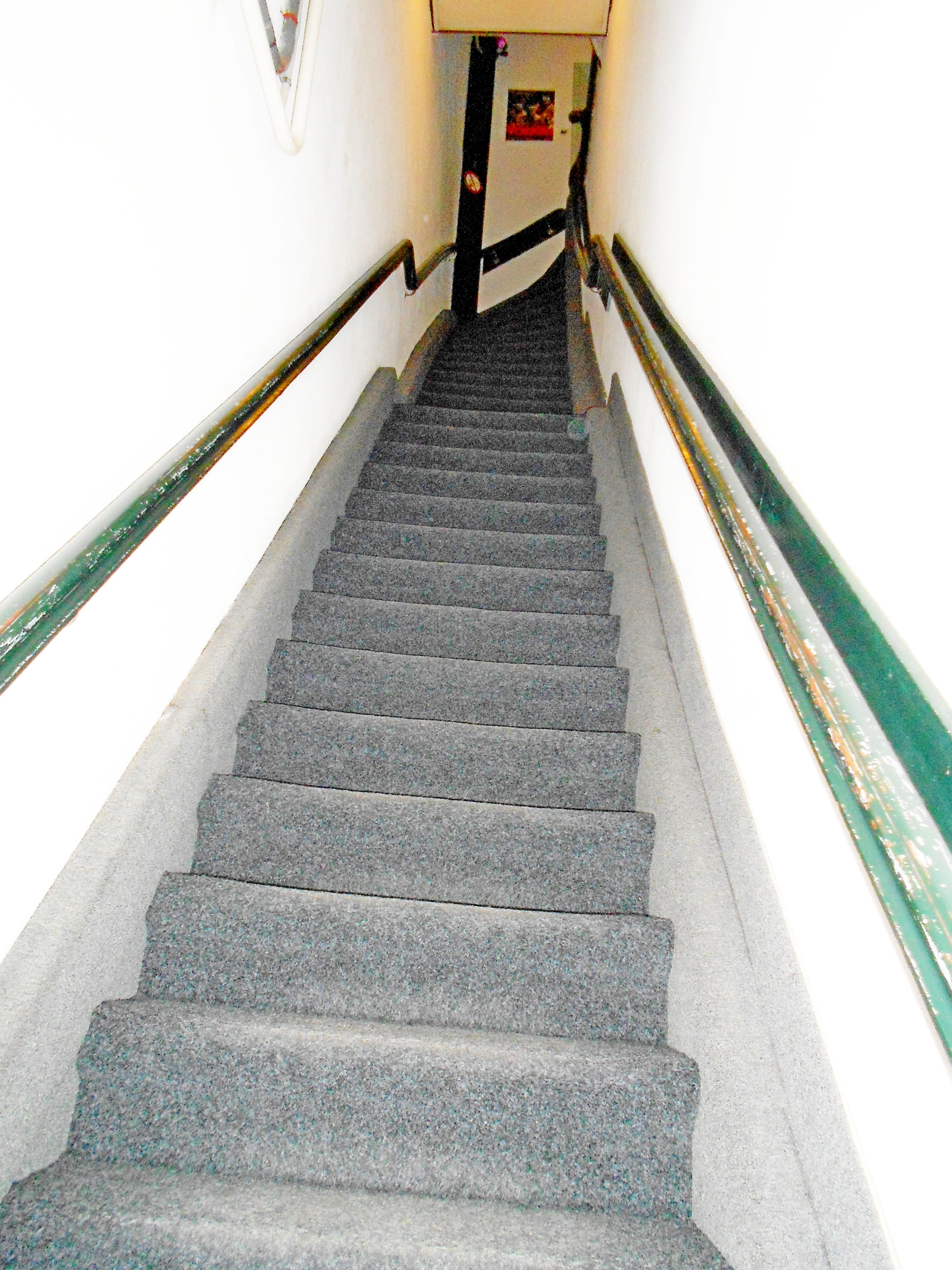 Stairway to guest house in Amsterdam. Seemed to go on