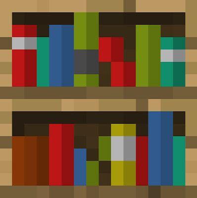 Minecraft wood book shelf theme template Minecraft