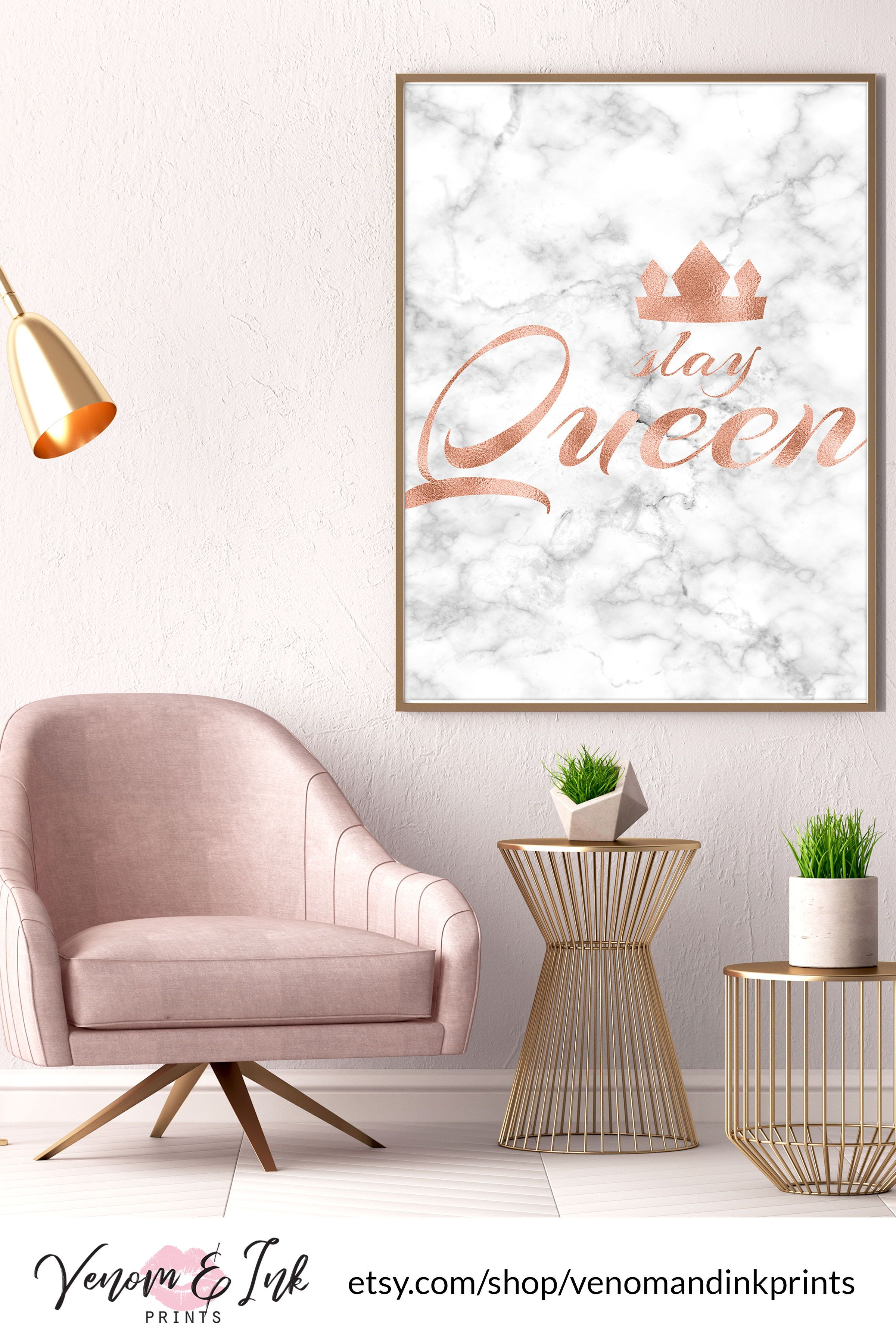 This rose gold decor is perfect for decorating your rose gold bathroom bedroom living