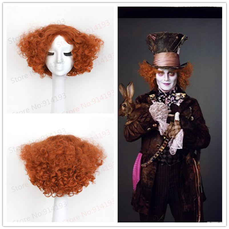 성인 앨리스 전기 매드 할로윈 가발 열 Resistat 합성 머리 악마의 매드 의상