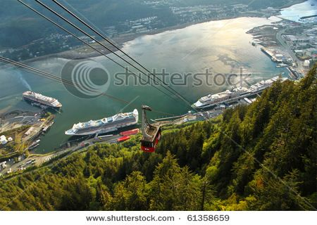 Juneau,Alaska (went on this cable car)