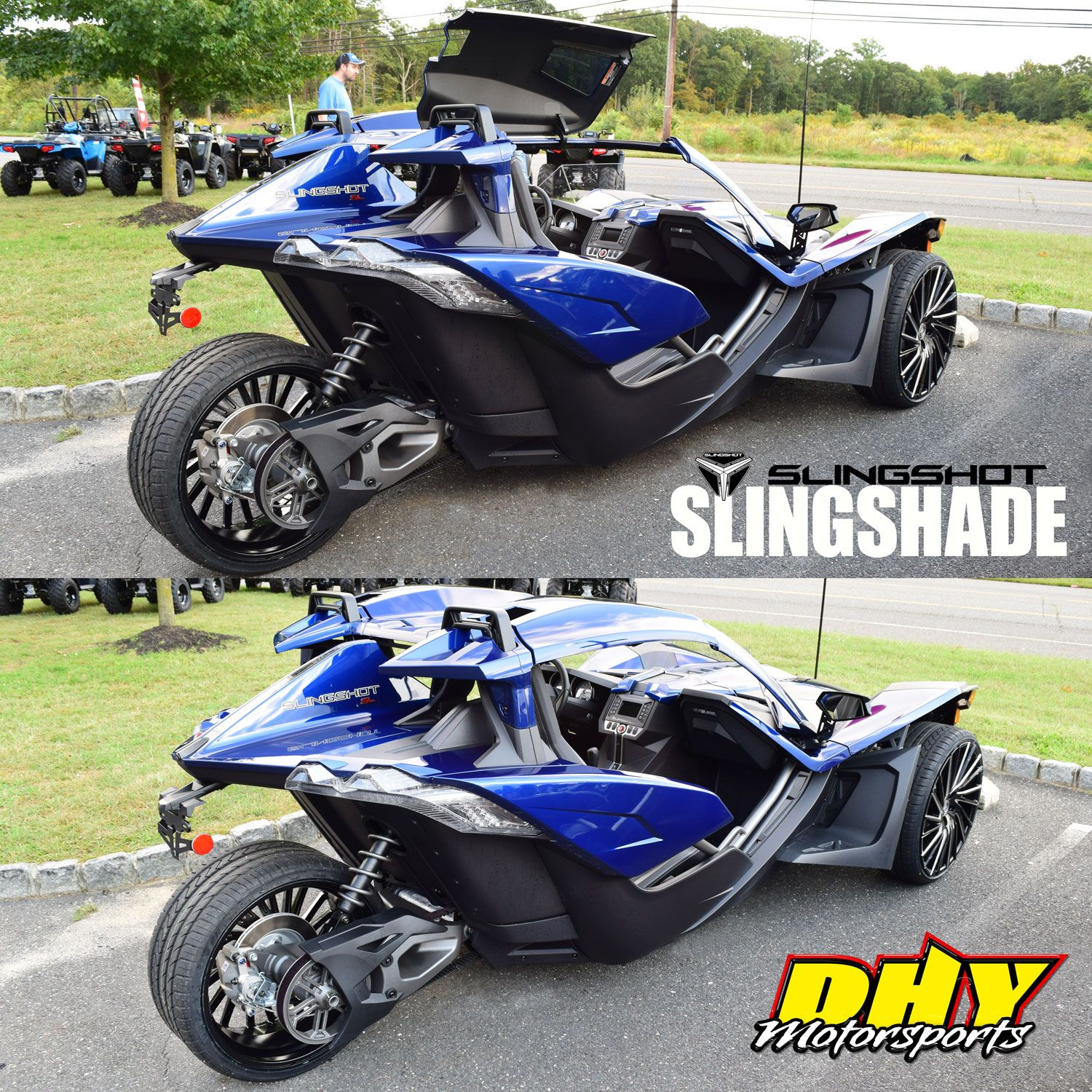 The #Polaris #Slingshot #Slingshade Let's You Keep Cool