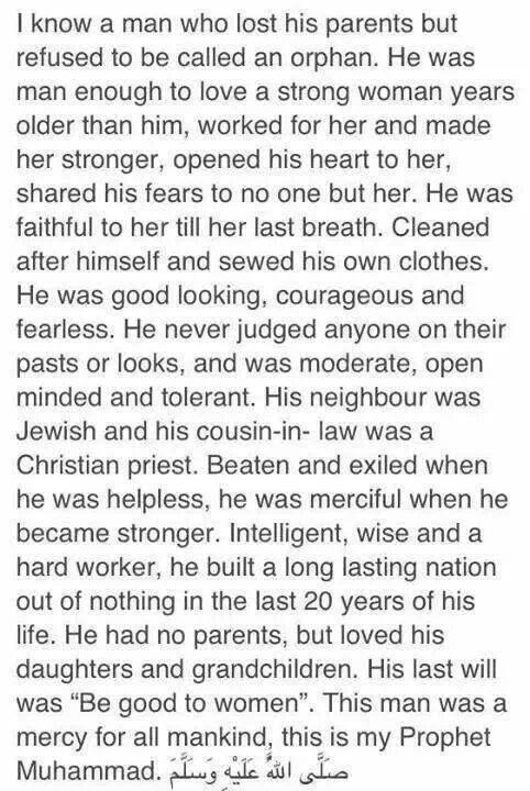 I know a man... #Islam