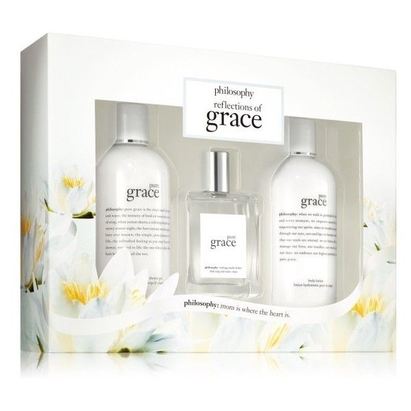 Women's Philosophy Pure Grace Set (774.060 IDR) ❤ liked on Polyvore featuring beauty products, fragrance, no color, bubble bath, philosophy perfume and philosophy fragrance