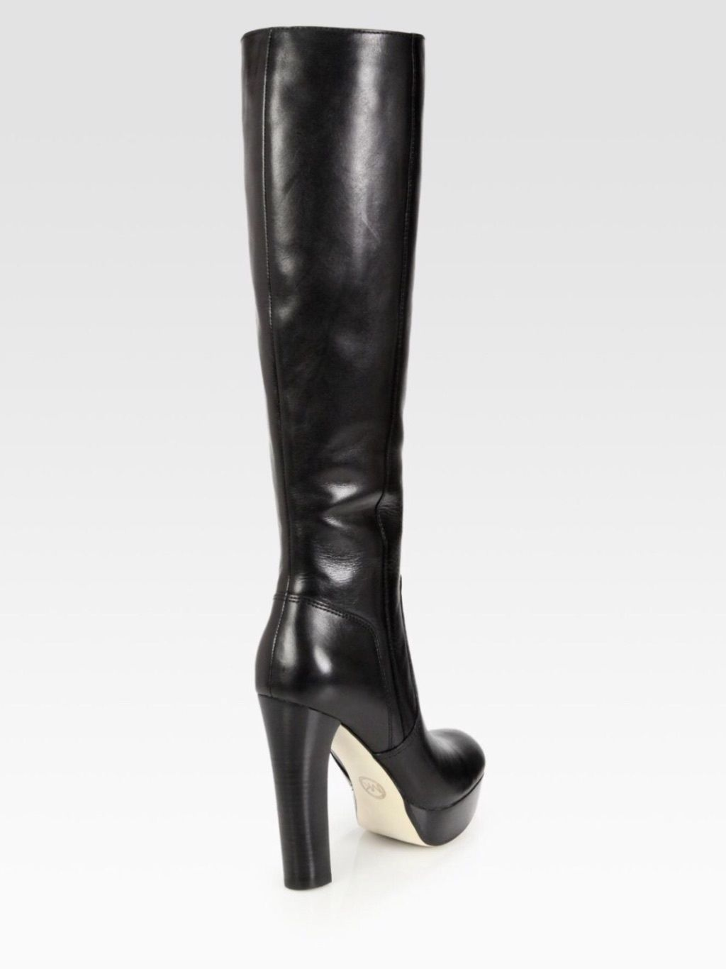best selection of get new crazy price Michael Kors Black Lesly High Heel Knee High Tall Leather ...