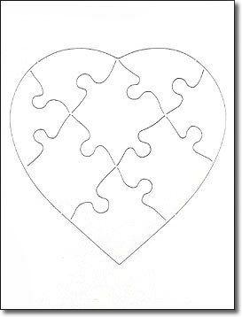 blank jigsaw puzzle 6 x 8 8 piece heart