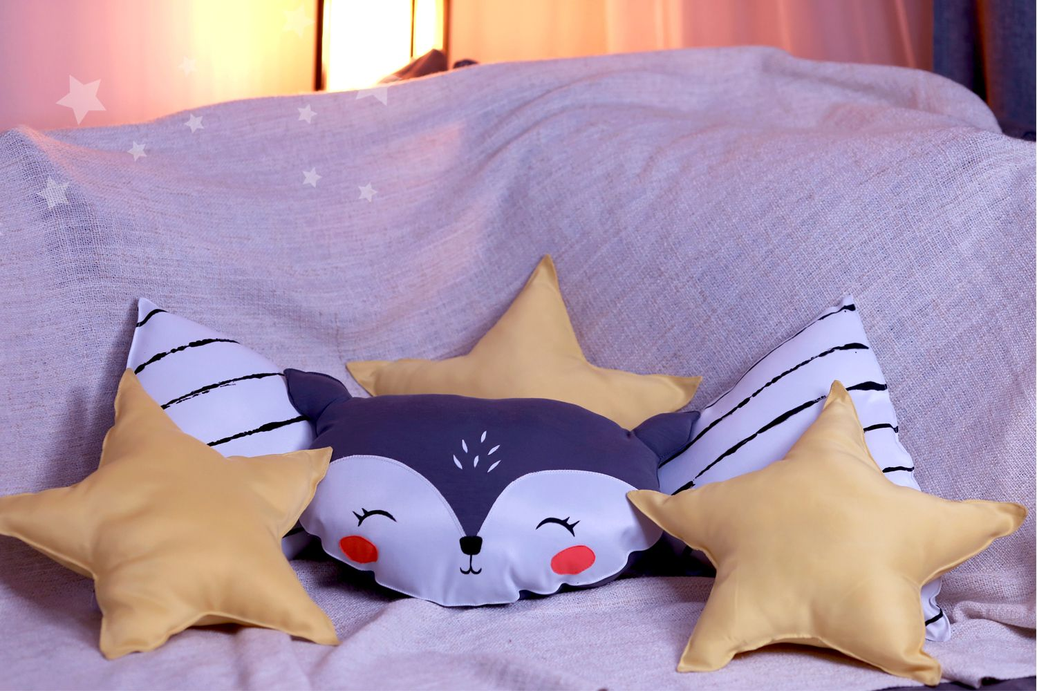 Collection of decorative pillows designed by angela taleska one