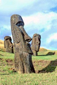 The first Europeans to see the Easter Island Statues came ashore on Easter Sunday, 1722, giving the island its name.
